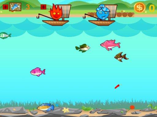Game Cậu bé lửa và cô gái nước câu cá – Fireboy And Watergirl Go Fishing