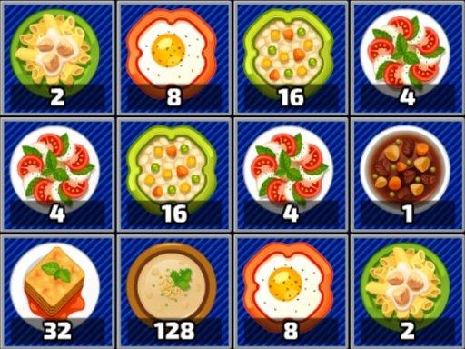 Game Xếp hình 2048 thức ăn