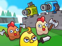 Game Merge Cannon: Chicken Defense